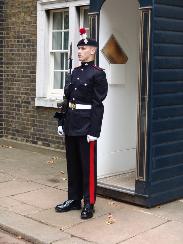 Eric and Guard at Clarence house
